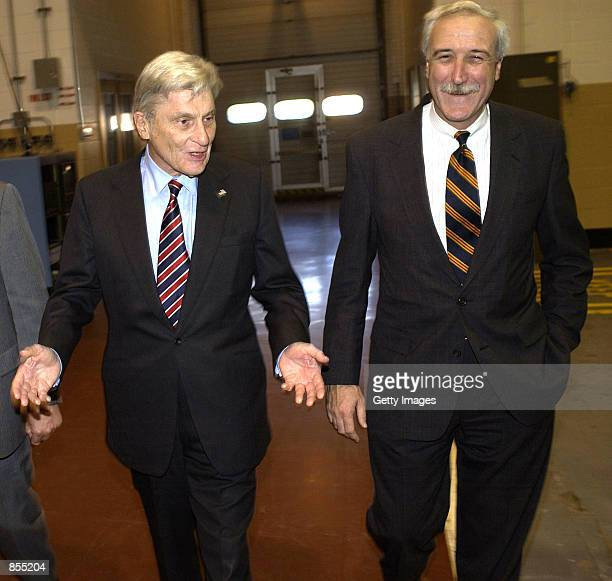 Administrator Sean O''Keefe and Senator John Warner tour NASA's Langley Research Center January 10 2002 in Hampton Virginia This was part of the new...