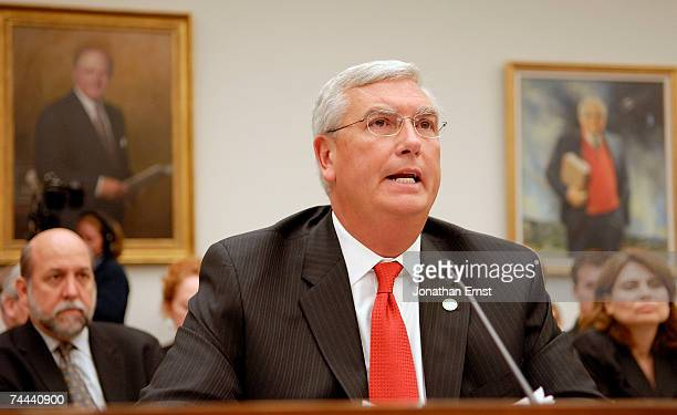 Administrator Stephen Johnson testifies about global warming before the House Select Energy Independence and Global Warming Committee at the Rayburn...