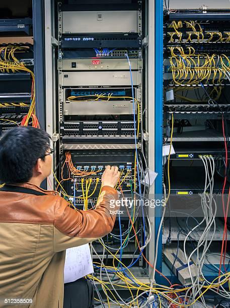 Administrator Arbeiten auf einem server-Raum
