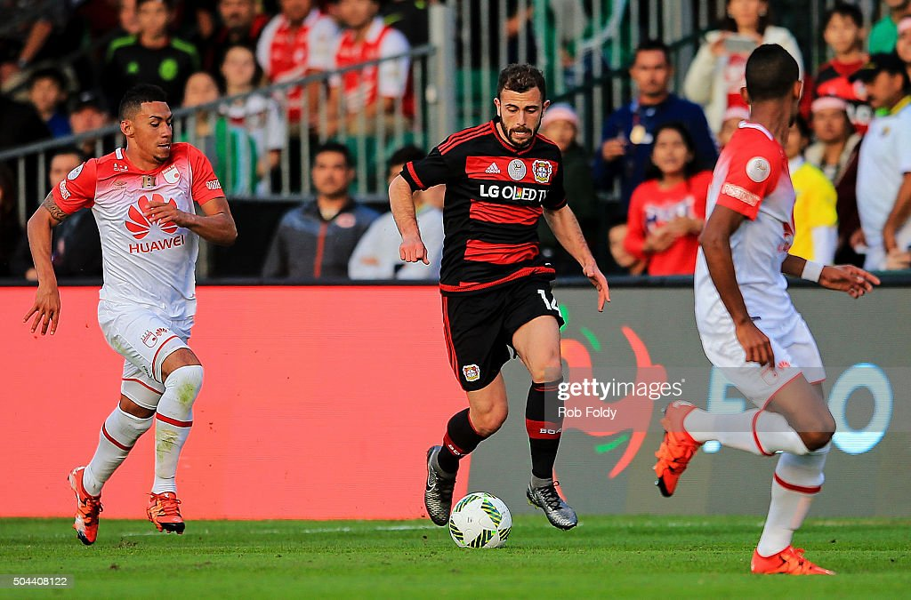 Admir Mehmedi #14 of the Bayer Leverkusen in action during the match against Bayer Leverkusen at the ESPN Wide World of Sports Complex on January 10, 2016 in Kissimmee, Florida.