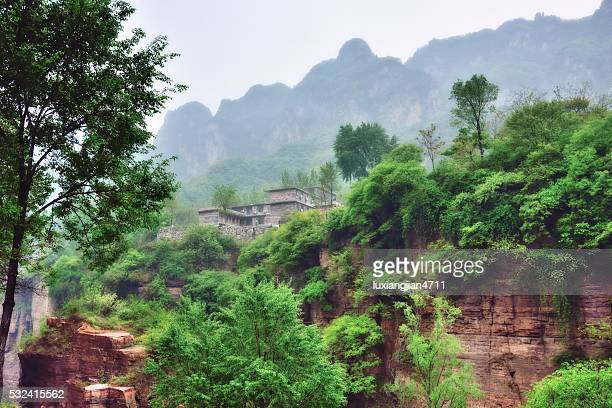 admirable village in the southern taihang mountains 008 - henan province stock pictures, royalty-free photos & images