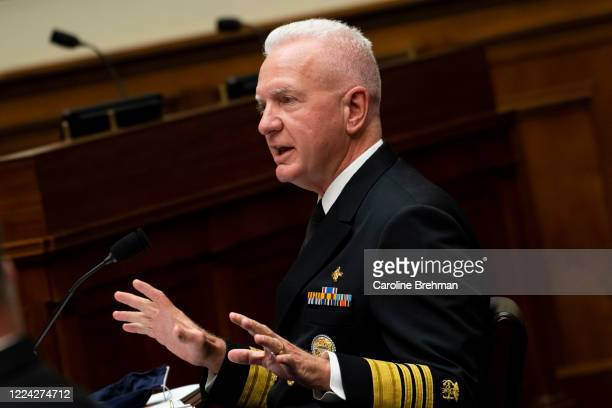 Admiral Brett P Giroir MD Assistant Secretary for Health testifies during a House Oversight and Reform Committee hearing on The Administration's...