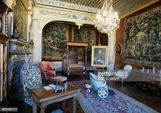Admiral Charles Henri d'Estaing's room Chateau de Ravel Auvergne France 18th century