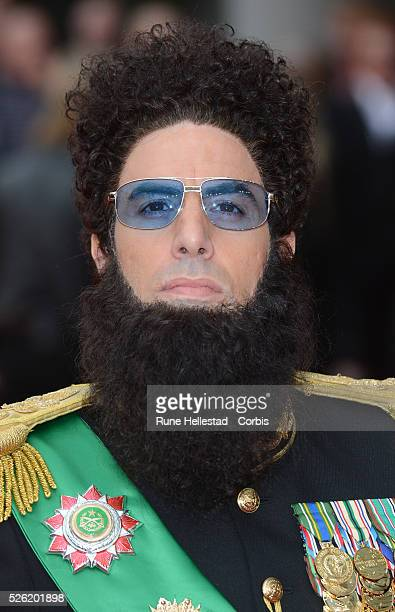Admiral General Aladeen aka Sacha Baron Cohen attends the premiere of The Dictator at Royal Festival Hall