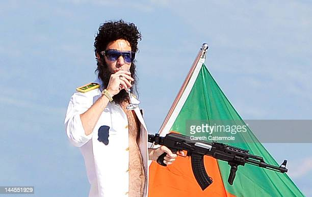 Admiral General Aladeen spotted on a luxury yacht at Hotel Du Cap during 65th Annual Cannes Film Festival on May 16 2012 in Cannes France