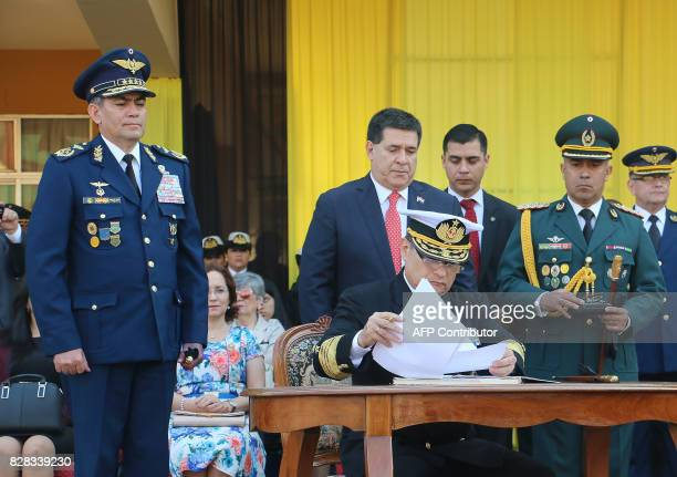 Admiral Hugo Milciades Scolari Pagliaro signs in as new Commander in Chief of the Paraguayan Military Forces in replacement of Braulio Piris Rojas...
