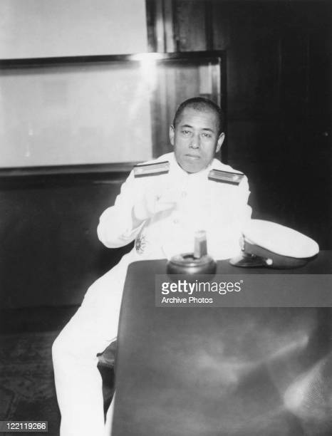 Admiral Isoroku Yamamoto of the Imperial Japanese Navy in Tokyo shortly before a trip to Britain where he is to take part in the London Naval...