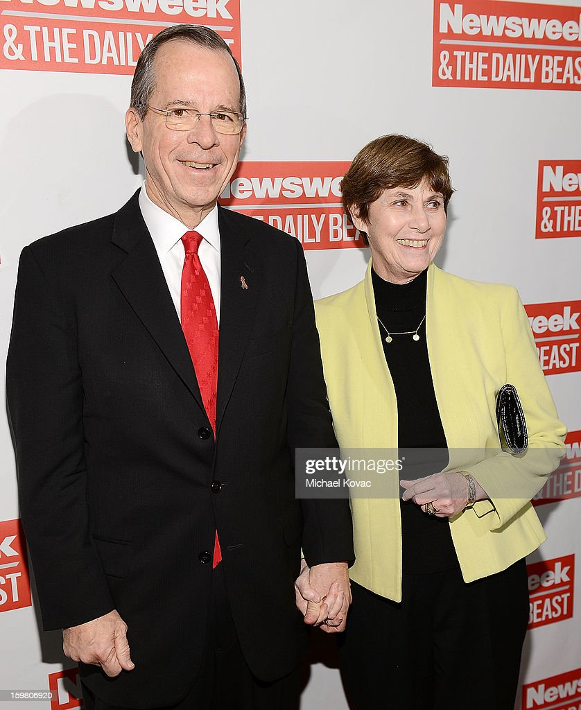 Admiral Mike Mullen and his wife Deborah Mullen attend The Daily Beast Bi-Partisan Inauguration Brunch at Cafe Milano on January 20, 2013 in Washington, DC.