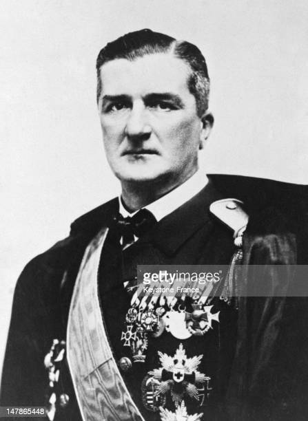 Admiral Miklos Horthy pictured in 1927 in Hungary