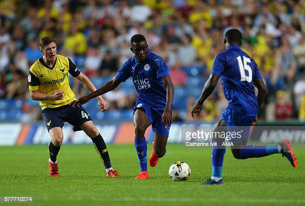 Admiral Muskwe of Leicester City in action during the PreSeason Friendly match between Oxford United and Leicester City at Kassam Stadium on July 19...
