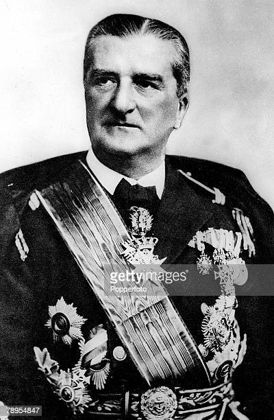 Admiral Nicholas Horthy Hungarian politician pictured in 1936