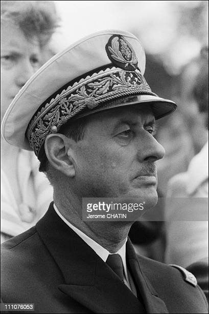 Admiral Philippe de Gaulle and Michel Debre in France on June 15th 1980