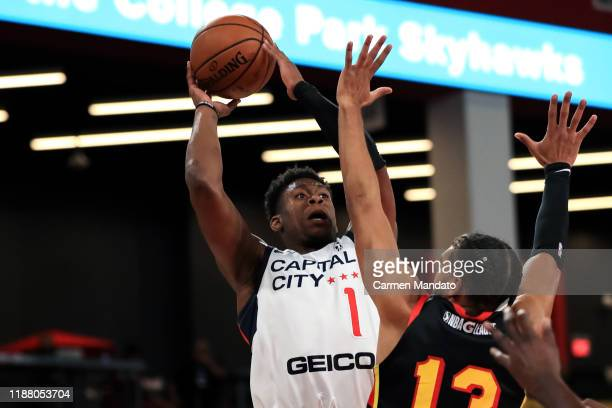 Admiral Schofield of the Capital City GoGo shoots the ball against the College Park Skyhawks on December 11 2019 at Gateway Center Arena in College...