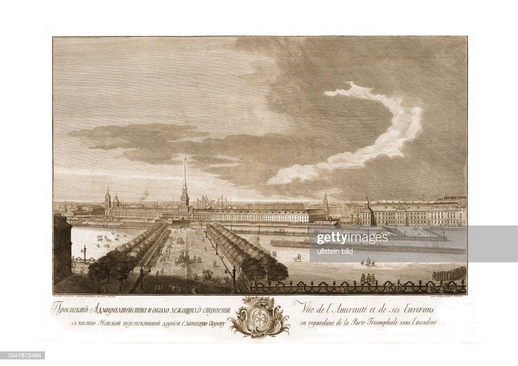 Admiralteistva 1761 Vue De Lamiraute Et De Ses Environs En News