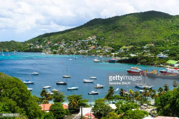 admiralty bay, bequia, port elizabeth, saint-vincent and the grenadines, west indies - port elizabeth südafrika stock-fotos und bilder