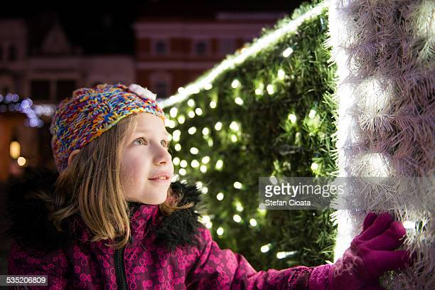 Admiring Christmas lights
