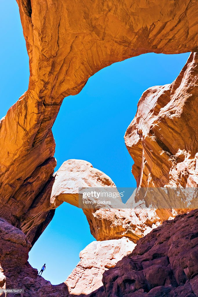 Admiring Double Arch : Stock Photo