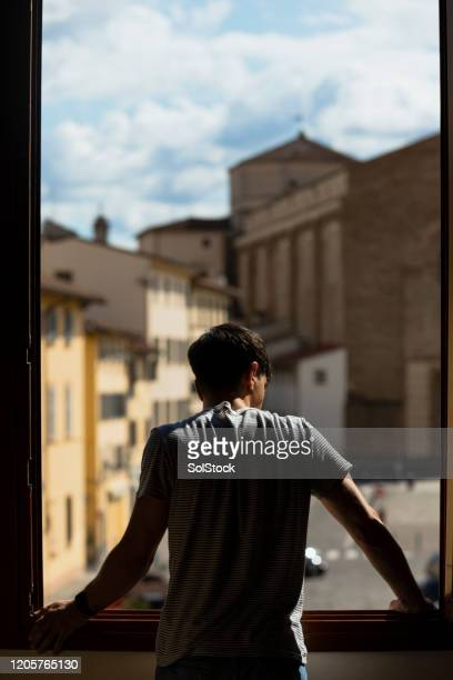 admiring the city - florence italy stock pictures, royalty-free photos & images