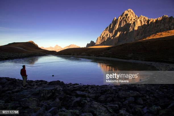 admiring the majesty of the mountains - cuneo stock pictures, royalty-free photos & images