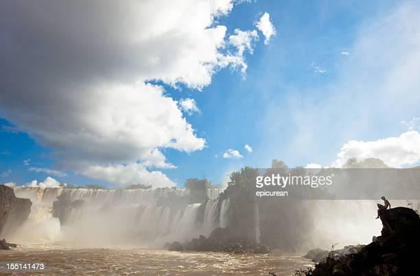 Admiring the power of nature at Iguazu falls