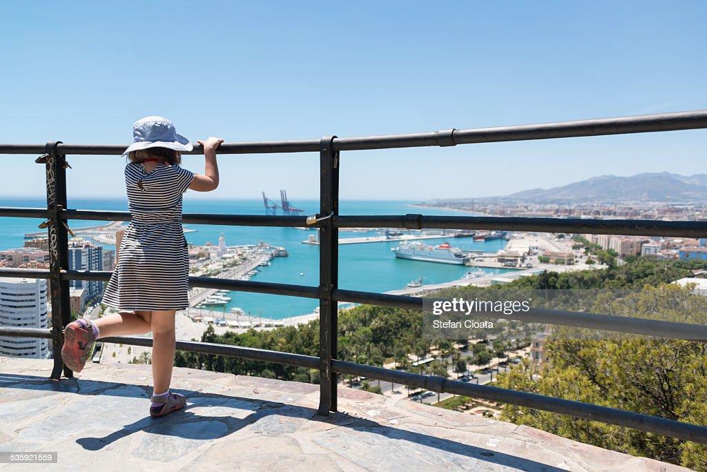 Admiring the view Malaga : Stock Photo