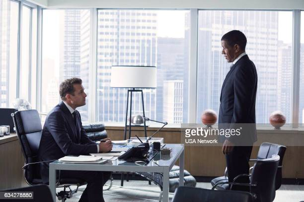 SUITS Admission of Guilt Episode 614 Pictured Gabriel Macht as Harvey Specter Scott Lawrence as James Palmer