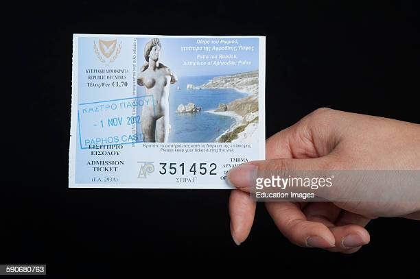 Admission ticket issued by the Department of Antiquities in Cyprus.