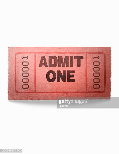 admittance ticket against white background - ticket stock pictures, royalty-free photos & images