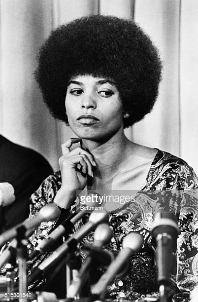 Admitted Communist and UCLA philosophy instructor Angela Davis said at a press conference that she was fired for racist not political reasons
