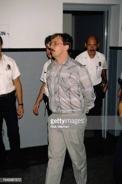 Admitted serial killer Joel Rifkin is escorted into a court room in Mineola Long Island where he is pleading not guilty for murder