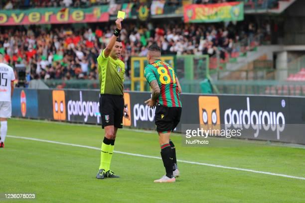Admonition of Martella Bruno during the Italian Football Championship League BKT Ternana Calcio vs LR Vicenza on October 23, 2021 at the Stadio...