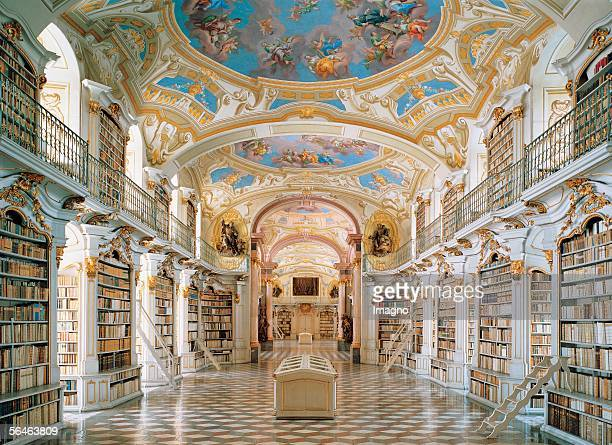 Admont Styria Benedictine monastery Large ceremonial room of the monastery library Founded 1074 build by J G Hayberger and J Hueber Photography...