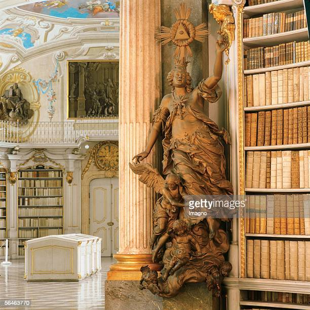 Admont Styria Benedictine monastery Library middle room Heaven of the cyle The last four things Joseph Stammel 1760 Founded 1074 Photography by...