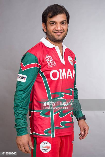 Adnan Ilyas of Oman poses during the official photocall for the ICC Twenty20 World on March 2 2016 in Mohali India