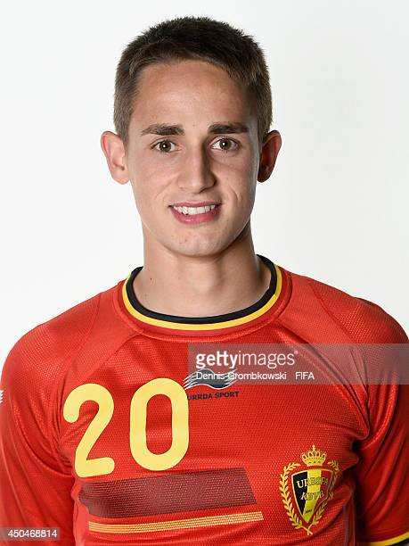 Adnan Januzaj of Belgium poses during the Official FIFA World Cup 2014 portrait session on June 11 2014 in Sao Paulo Brazil