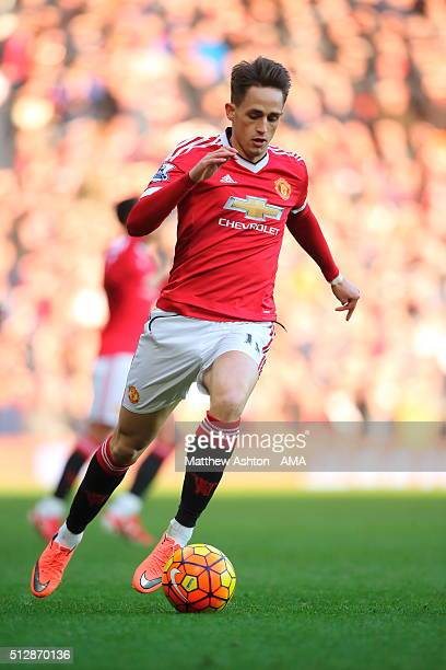 Adnan Januzaj of Manchester United during the Barclays Premier League match between Manchester United and Arsenal at Old Trafford on February 28 in...