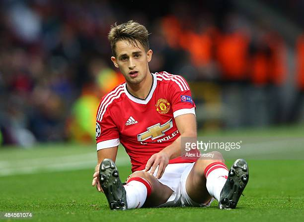 Adnan Januzaj of Manchester United during the UEFA Champions League Qualifying Round Play Off First Leg match between Manchester United and Club...
