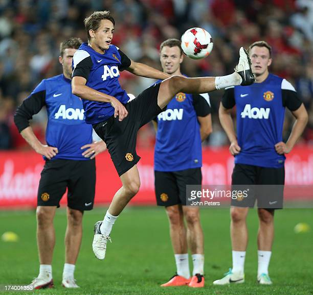Adnan Januzaj of Manchester United in action during a first team training session as part of their pre-season tour of Bangkok, Australia, China,...
