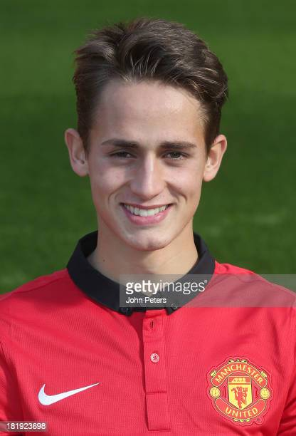 Adnan Januzaj of Manchester United poses at the annual club photocall at Old Trafford on September 26 2013 in Manchester England