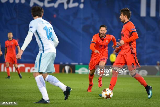 Adnan Januzaj of Real Sociedad during the UEFA Europa League Group L football match between Real Sociedad and Zenit at the Anoeta Stadium on 7...