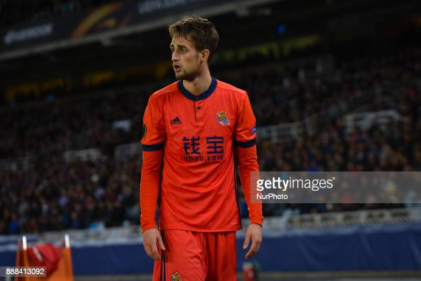 Adnan Januzaj of Real Sociedad reacts during the UEFA Europa League Group L football match between Real Sociedad and Zenit at the Anoeta Stadium on 7...