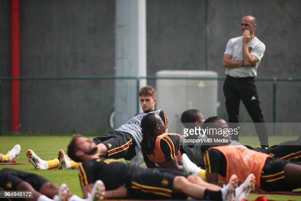 Adnan JANUZAJ pictured during a training session of the Belgian national soccer team Red Devils at the Belgian National Football Center as part of...