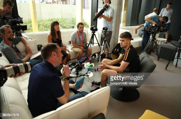 Adnan JANUZAJ talks to the press after a training session of the Belgian national soccer team Red Devils at the Belgian National Football Center as...