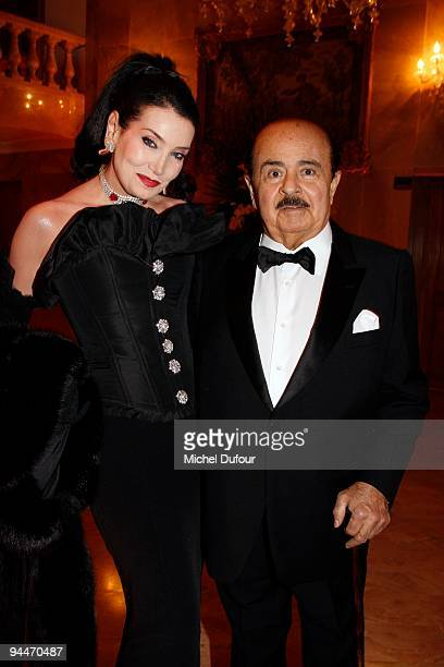 Adnan Khashoggi and his wife attend 'The Best ' Awards 2009 at Salon Hoche on December 14 2009 in Paris France