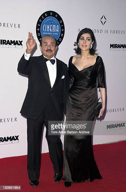 Adnan Khashoggi during Cannes 2001 amfAR's A Diamond is Forever Cinema Against AIDS Benefit at the Cannes Film Festival at Le Moulin de Mougins in...