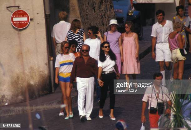 Adnan Khashoggi sur la Cote d'Azur le 26 juillet 1983 en France