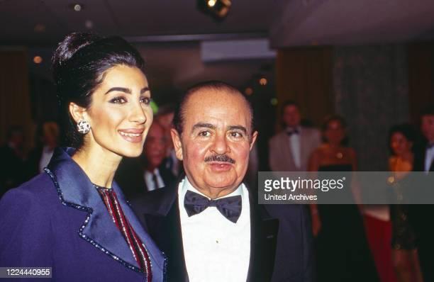 Adnan Khashoggi with wife Soraya at UNESCO Gala in Neuss Germany 1996