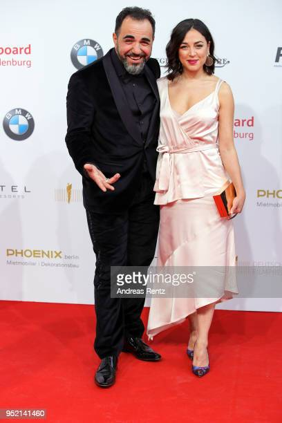 Adnan Maral and Franziska Maral attend the Lola German Film Award red carpet at Messe Berlin on April 27 2018 in Berlin Germany