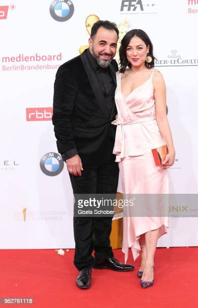 Adnan Maral and guest during the Lola German Film Award red carpet at Messe Berlin on April 27 2018 in Berlin Germany