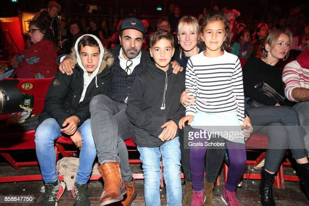 Adnan Maral and his son Acun Maral son Can Maral wife Franziska Maral and daughter Emel Maral during the premiere of the Circus Roncalli '40 Jahre...